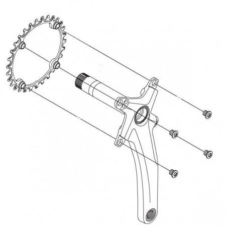 Chain ring 30 Teeth in Titanium - BCD 104