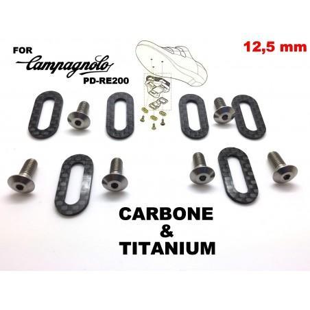 CAMPAGNOLO: 6 shoe plates + 6 screws