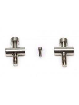 Fox 36: 2 screws/nuts + 1 brakeline screw in Titanium