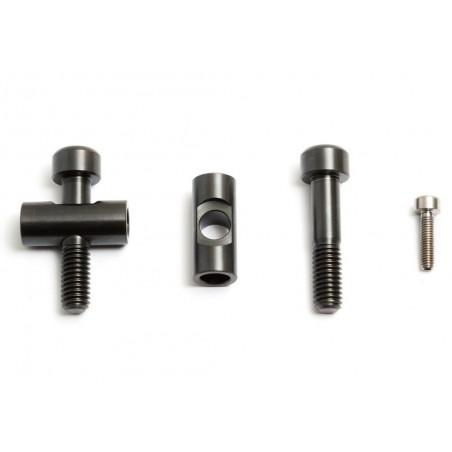 Fox 36: 2 screws/nuts + 1 brakeline screw in Titanium