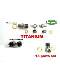 HOPE: Brake line connector set in Titanium