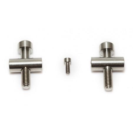 Fox 36: 2 Schrauben und Tonnen aus Titan + 1 TitanSchraube für Bremsleitung