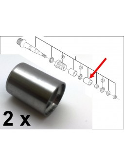 Shimano XTR: 2 bearing sleeves for pedals