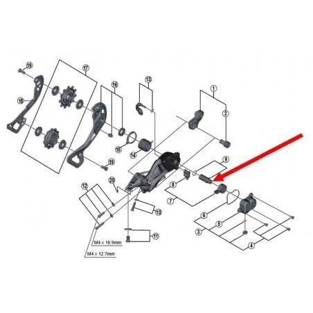 Shimano XT-XTR: 1 P-Axle unit for derailleur