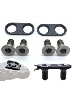 SHIMANO SPD: 2 shoeplates & 4 screws