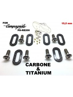 CAMPAGNOLO: 6 shoe plates + 6 screws